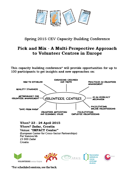 Spring 2015 CEV Capacity Building Conference PICK AND MIX – A M